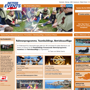 Webseite Erfolgsstory: Retter Events